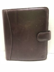 Franklin Covey Classic Brown Leather Open Binder 7 Rings 1 1 2 Rings Planner