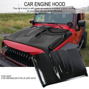 Jeep Jk Wrangler 07 18 Front Avenger Style Dome Sport Engine Vented Scope Hood