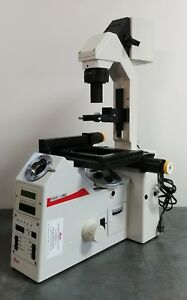 Leica Microscope Dmire2 Inverted With Motorized Stage And Nosepiece