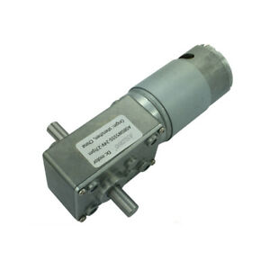 Dc12v 24v A58sw555s Double Output Shaft High Torque Worm Gear Motor With Gearbox