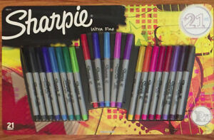 Sharpie Permanent Markers Ultra Fine Point Assorted Colors Set Of 21