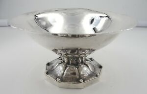 Vintage Georg Jensen Sterling Silver Footed Candy Dish 181a