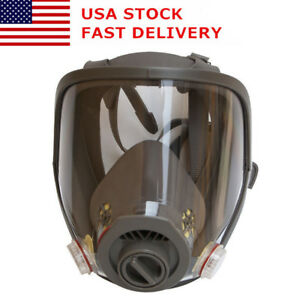 Full Face Facepiece Respirator Gas Mask For 3m 6800 Dust Paint Spraying Us Stock