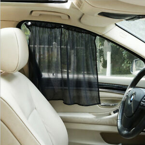 2x Auto Car Uv Protection Sun Shade Curtains Side Window Visor Mesh Cover Shield