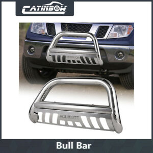Chrome Bull Bar Bumper Grille Guard For 05 16 Nissan Frontier Xterra Pathfinder