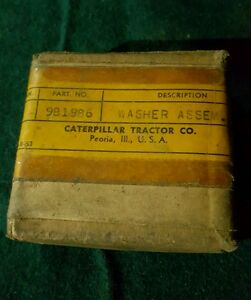 Vintage Caterpillar Tractor Co Washer Assembly Part No 9b1986 New