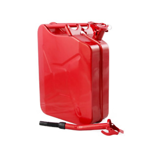 Jerry Can 5 Gallon Gas Fuel diesel Military Metal Tank Red free Shipping New