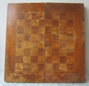 18 Antique Vintage Wooden Checkerboard Game Board Box Chess Backgammon