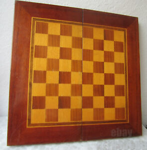 19 Antique Vintage Wooden Checkerboard Game Board Box Chess Backgammon