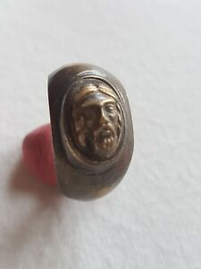 Ancient Roman Bronze Ring Seal In Original Style
