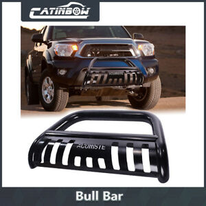 Black Bull Bar Heavy Duty Bumper Grill Grille Guard Skid For 05 15 Toyota Tacoma