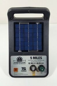 American Farm Works 5 Mile Solar Powered Electric Fence Controller