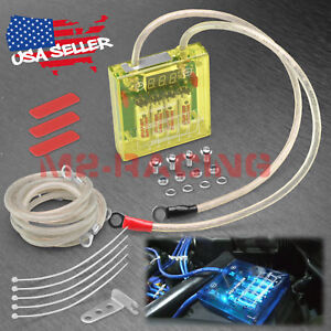 Universal Car Battery Yellow Voltage Stabilizer Regulator Ground Wire Power Kit