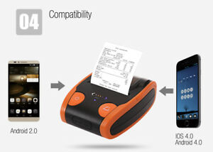 Android Ios Bluetooth Pos Thermal Sticker Label Barcode Printer Power Display
