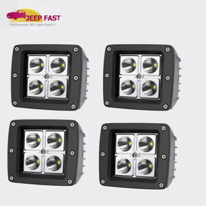 2x 3inch 32w Led Flood Cube Work Lights Driving Pods Off Road Atv Ute Lamp Boat