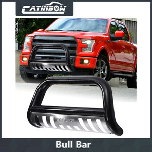 Heavy Duty Steel Front Bumper Bull Bar Grille Guard Skid For Ford F150 Navigator