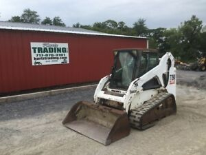 2004 Bobcat T190 Tracked Skid Steer Loader W Cab
