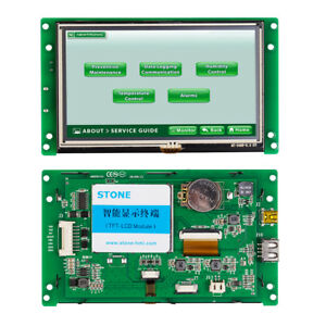 5 Inch Color Hmi Tft Lcd Display Module With Controller Board program software