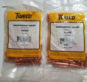 50 Pcs Tweco 14h35 1140 1202 contact Tip 035 0 9mm