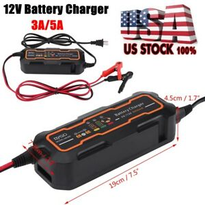 6v 12v 3a 5a Smart Car Battery Charger And Maintainer Desulfator Waterproof