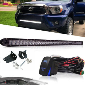 30inch Single Row Led Work Light Bar Flood Spot Offroad 4wd Ute Jeep Truck Slim