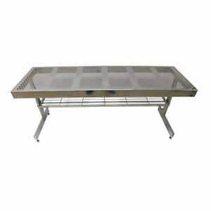 Dryden Engineering Stainless Steel Cleanroom Table 1111c1 72 x24 x30 W Shelf