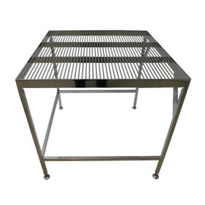 Electropolished Cleanroom Table Lab Stainless Steel Wiretop 36 X 36 X 36