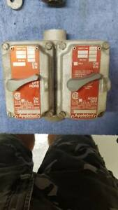 Appleton Efkf120 Explosion Proof Switches In A 2 gang Appleton Box Free Ship