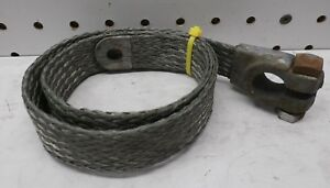 27 Flat Braided Tinned Copper Ground Shunt Strap Battery Lead Wiry Joe Nos
