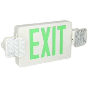 Lithonia Lighting Thermoplastic Led Emergency Exit Sign fixture Unit Combo 125