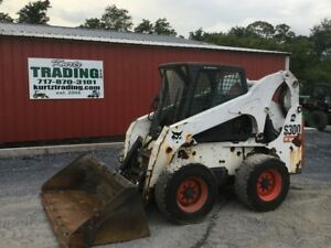 2009 Bobcat S300 Skid Steer Loader W Cab 2spd High Flow