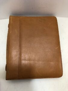 1 25 Rings Brown Leather Boulder Ridge Zip Planner binder Brief