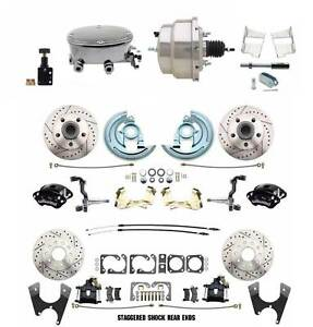1967 69 Camaro Firebird Wilwood Front Rear Disc Brake Kit W Stainless Booster