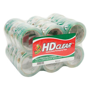 Duck Brand Hd Clear Packing Tape Clear 24 Carton