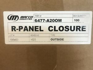 Closure Strip Foam For R panel U panel o s i s Metal Roofing 100 Strips box