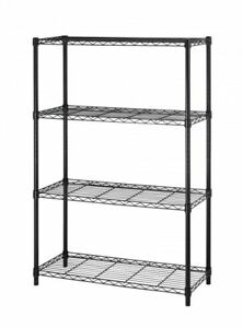 36 x14 x54 4 Tier Layer Shelf Adjustable Steel Wire Metal Shelving Rack Black