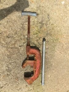 Ridgid No 4 S Pipe Cutter 2 To 4 Pipe Handle Ugly But Works Good