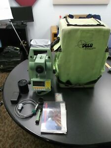 Leica Tcr1105 Total Station Seco Padded Backpack Prism Batteries