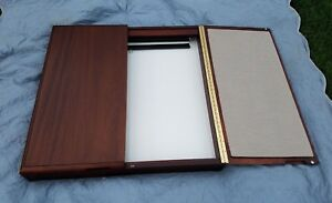 Wood Cabinet Conference Presentation Marker White Board Projector Screen 36 X 36