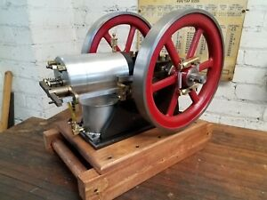 Hand Built Hit And Miss Model Engine Runs Great Starts Easy