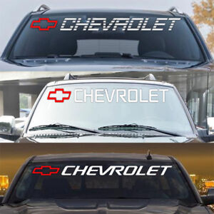 Chevy Bowtie Car Vinyl Decal Tailgate Sticker Truck Windshield Strip Graphics