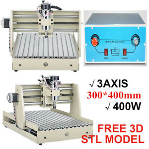 400w Cnc 3040 Rounter 3 Axis Wood Engraver Desktop 3d Cut Mill Carving Machine