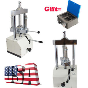 Dental Lab Hydraulic Press Flask Presser Pressure Warranty analog Wax Heater Pot