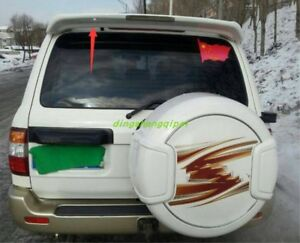 Abs Tail Fins Cover Trim Rear Spoiler For Toyota Land Cruiser 2005 2007