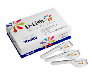 50 Young D lish 5 Sodium Fluoride Tooth Varnish Single Dose Assorted Flavors