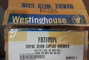 Westinghouse Fb3100pl 100 Amp Circuit Breaker New In The Box With Warranty