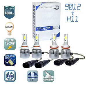 Gp Thunder Combo 9012 Led Headlights H11 Fog Light Bulbs New