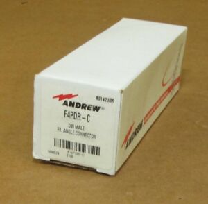 Andrew Commscope F4pdr c 7 16 Din Male Right Angle Connector New