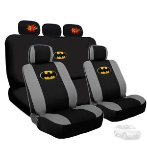 For Ford Batman Deluxe Seat Covers And Classic Bam Logo Headrest Covers