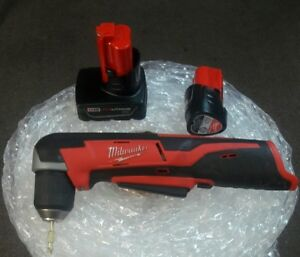 Milwaukee M12 Cordless 3 8 Right Angle Drill with 2 Batteries m12 Xc